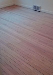The fixed floor after sanding