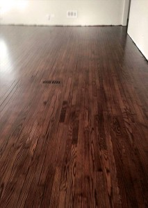 The restored hardwood floor A job well done